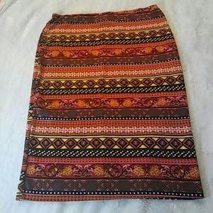 Tribal Print Skirt Size 2x
